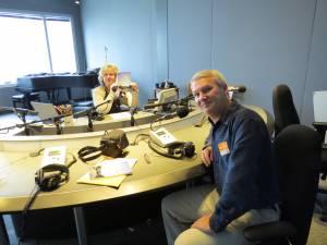 With Karen Gordon at the CBC in Toronto.